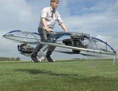 The Internet's favorite crazy inventor has created a homemade, rideable hoverbike