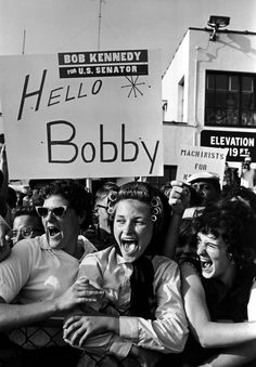 Supporters of Robert Kennedy in upstate New York during his 1964 Senate campaign. Photograph by Cornell Capa/Magnum.