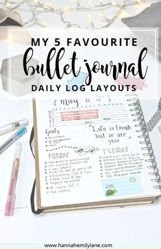 Change up your bullet journal pages with this daily log layout inspiration | http://www.hannahemilylane.com