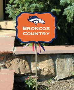 Denver Broncos Yard Signs Broncos Superbowl Party 3 by Punkyprep, $3.95