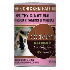 Dave's Naturally Healthy Canned Cat Food Beef and Chicken Pate 12oz, Pack of 12 -- Find out more details by clicking the image : Cat food