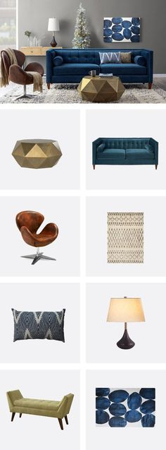 Shop everything you need to create this cool blue mid-century living room look at AllModern.com. Sign up to receive exclusive access to deals at up to 65% OFF every day. Start decorating!