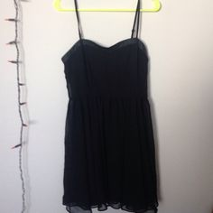 Forever 21 summer dress! Forever 21 dress, size medium, black silky underneath part, sheer on top. Lbd, little black dress. Light and airy, dressy or casual. EUC. Zipper on the side, only worn twice!! Forever 21 Dresses Mini