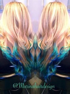 We've gathered our favorite ideas for Peacock Inspired Turquoise Blue Hair Reverse Ombré Blonde, Explore our list of popular images of Peacock Inspired Turquoise Blue Hair Reverse Ombré Blonde.