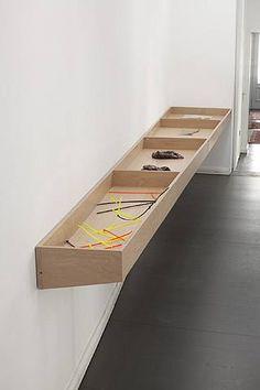 Minimalist timber display case.