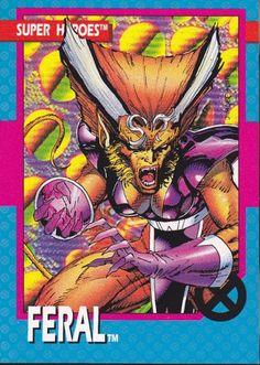 Marvel Super Heroes Feral Trading Card - Jim Lee
