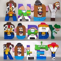 item is unavailable - SALE Toy Story Letters Price Per Letter by GunnersNook on Etsy -This item is unavailable - SALE Toy Story Letters Price Per Letter by GunnersNook on Etsy - Toy Story Custom Letters Woody Buzz Lightyear Toy Story Theme, Toy Story Birthday, Toy Story Party, Boy Birthday, Cumple Toy Story, Festa Toy Story, Painted Letters, Wooden Letters, Disney Toys