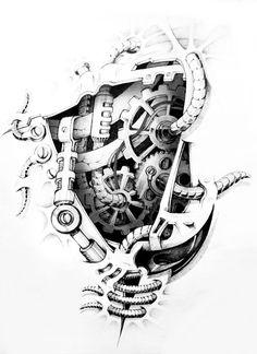 Tattoo for guys rib tatoo 53 ideas Music Tattoos, Body Art Tattoos, Sleeve Tattoos, Cool Tattoos, Tatoos, Tattoo Sketches, Tattoo Drawings, My Drawings, Clock Tattoo Design
