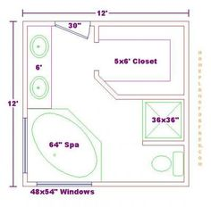 Master Bath Floorplans | Free Bathroom Plan Design Ideas   Master Bathroom  Design 12x12 Size .