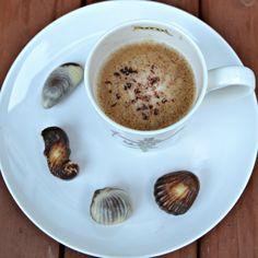When Guylian chocs jump onto your plate it would be rude not to eat them. #coffee #guylian #seashells #chocolate