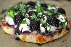 Blackberry Ricotta Pizza with Basil