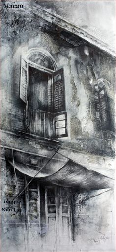 Ian Murphy Very textured work using ink. Lots of smudging. He uses text to create texture which has some sort of meaning to the image. Art Sketches, Art Drawings, Charcoal Art, Charcoal Drawings, Observational Drawing, A Level Art, Architectural Features, Monochrom, Urban Sketching