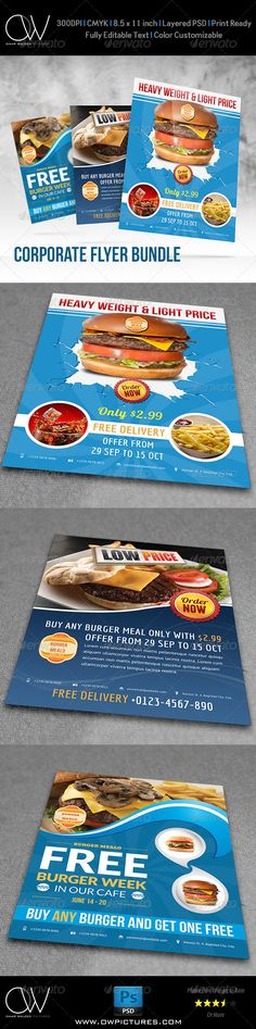 Flyer Bundle Description : Restaurant Flyer Bundle Template easy to edit text, images and colors. Flyer Bundle Specification :Fully layered PSD files Easy customizable and editable Flyers design in x with bleed setting CMYK color Flyer in 300 Pizza Flyer, Pizza Menu, Texas Chili, Restaurant Menu Template, Burger Restaurant, Menu Design, Flyer Design, Catering, Brochure Food