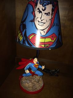 Superman lamp for the superhero room is a must! Superman Room, Superhero Room, Great Rooms, Bedroom Ideas, Lamps, Kids Room, Boys, Home Decor, Products