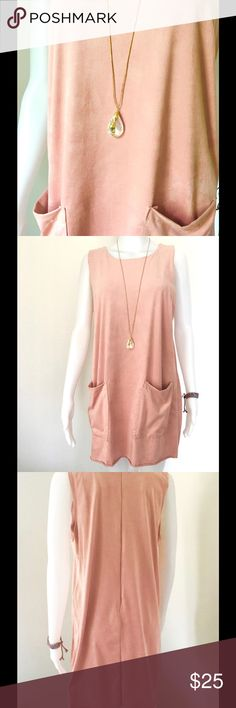 Blush Light dusty rose super soft loose fitting dress, two pockets at front zipper at back. Dress it up or down, very pretty. New never worn. Marci Dresses