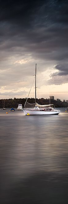 A lonely Boat at Matilda Bay in Western Australia