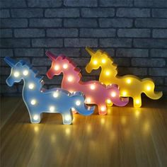 Cute Unicorn Night Light Baby Plastic Battery LED Lamp Kids Room Bedroom Bedside Lamp Party Wedding Home Decoration Unusual Birthday Gifts, Birthday Gifts For Sister, Unicorns And Mermaids, Diwali Gifts, Night Lamps, Night Lights, Nursery Room Decor, Christmas Gifts For Kids, Kids Room