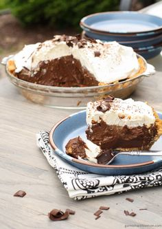 chocolate pie creamy chocolate pie sinfully delicious and so easy to ...