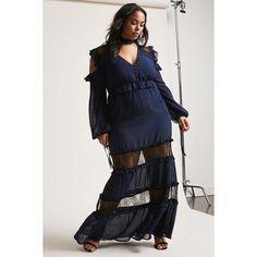 f71a3d396e6da Forever21 Plus Size Dark Pink Open-Shoulder Dress ( 78) ❤ liked on Polyvore