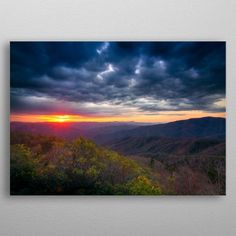 Sunrise of the Appalachian Tra. by Geoff Lamaze Wall Art Prints, Canvas Prints, Sunrise, Canvas Art, Wall Decor, Posters, Fine Art, Mountains, Metal