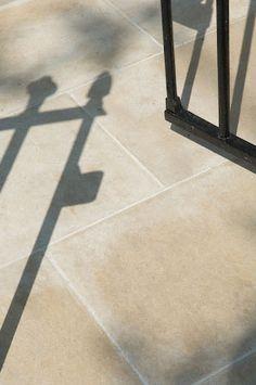 Yorkstone diamond sawn paving Garden Paving, Garden Paths, York Stone, Hardwood Decking, Patio Slabs, Stone Kitchen, Landscape Materials, Modern Patio, Paving Stones