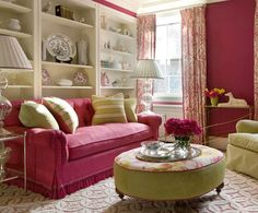 Furniture for Modern Living Room 2013 : Small Modern Pink Living Room 2013 | Armada Furniture