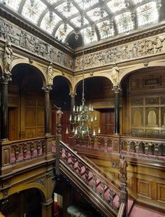 Victorian Mansion built for William Waldorf Astor 1895 ~ The Stair Hall