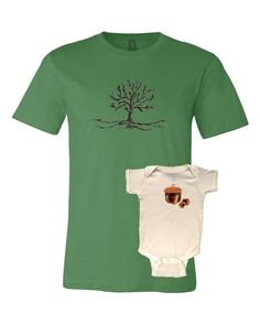 Acorn from tree father and son shirts