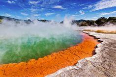 Champagne Pool in Rotorua, New Zealand. #travel #bucketlist