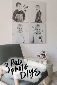 fun ideas to get photos on your walls! Diy Canvas, Wall Canvas, Wall Art, Simple Poster, Black And White Canvas, Diy Art Projects, Walmart Photos, Diy Photo, Photo Canvas