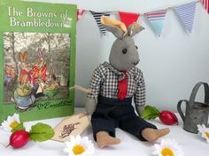Bramble-Pip the rabbit- Homemade 1930's -1950's bunny www.onceuponatimebears.co.uk