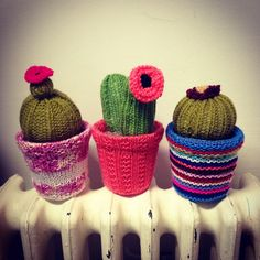 Knitted Cacti by Jenna Alldread