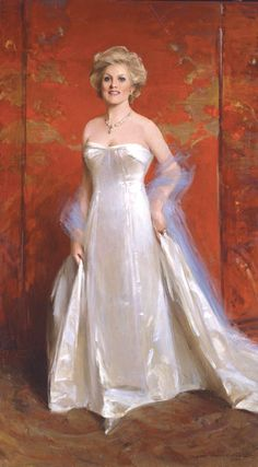 Masters of Portrait Art - Fine Artist & Portrait Artist Everett Raymond Kinstler, N. Portrait Art, Portrait Paintings, American Illustration, Female Art, Vintage Photos, Modern Art, Art Gallery, White Dress, Fine Art