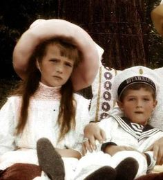 Anastasia and Alexei.  Of the Grand Duchesses, Anastasia was closest to Alexei although he was cherished by everyone.