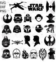 Star wars Darth Vader Yoda ships icons Iron on t-shirt heat transfer  lot SW