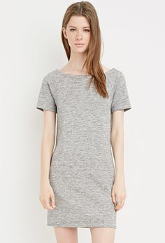 This would be fun to accessorize -- Space Dye Off-the-Shoulder Dress