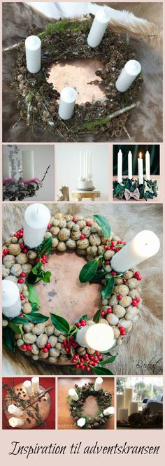 Lots of ideas for Advent wreaths