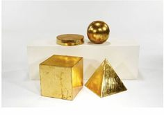 View Geometric sculptures set of 4 by Mathias Goeritz on artnet. Browse upcoming and past auction lots by Mathias Goeritz. Geometric Sculpture, Abstract Sculpture, Gold Art, Paper Weights, Geometric Shapes, Art Pieces, Design Inspiration, Interior Decorating, Interior Design