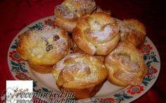 Túrós rózsa muffin sütőben