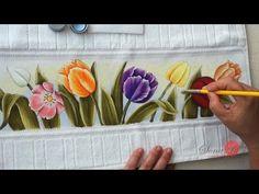 Tulipas Coloridas em Toalhinha (Aula 82/ Parte 2) - YouTube
