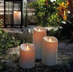 luminara flameless candles in plastic leave safely in all the elements
