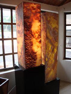 Decor and Stone: Lámpara de placa de ónix