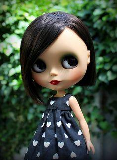 Beautiful Jackie in her heart dress
