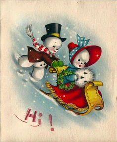 #cute #vintage #Christmas #cards