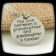 NEW GRANDMOTHER/GRANDDAUGHTER NECKLACE A sweet gift for either a grandmother or granddaughter.   Special message inscribed. Jewelry Necklaces