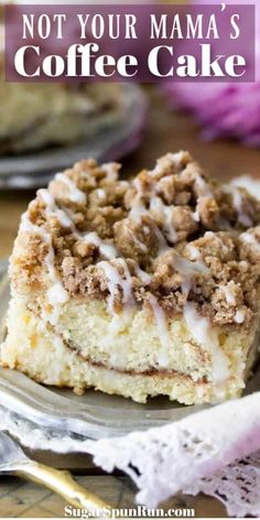 The BEST Coffee Cake Recipe! This breakfast recipe is a cake with a soft, moist, buttery crumb and a mountain of streusel topping! # coffee cake The BEST Coffee Cake Recipe Easy No Bake Desserts, Easy Cake Recipes, Baking Recipes, Dessert Recipes, Easy Crumb Cake Recipe, Dessert Simple, Food Cakes, Cupcake Cakes, Cupcakes