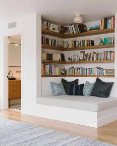 """@topsdecoration's Instagram post: """"Which nook is your favourite? 😍 1- Book Corner by @samgluck 2- Bailey Residence by @hackerarchitects 3- Reading Nook by…"""" Living Room Interior, Home Decor Bedroom, Living Room Decor, Bedroom Ideas, Interior Livingroom, Cozy Bedroom, Budget Bedroom, Paint Colors For Living Room, Home Interior Design"""