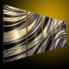 Original brillante Metal pared arte moderno pintura por tomouk