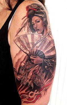 Rember Orellana - geisha tattoo
