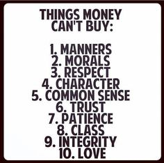 But money can buy a lot of stuff that doesn't matter.
